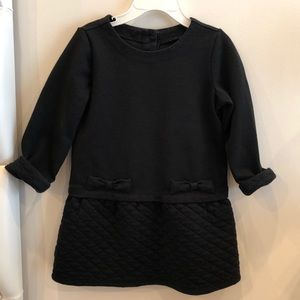 Black quilted bow dress